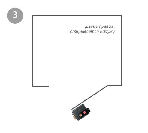 511310605 ISEO правый наружный накладной замок с кнопкой и ключом - 1