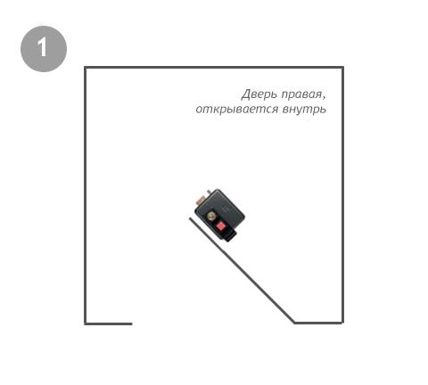 521310605 ISEO правый внутренний накладной замок с кнопкой и ключом - 1