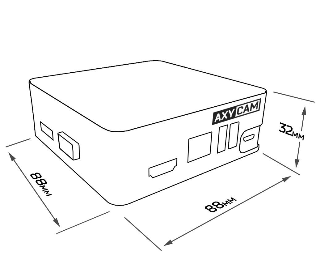 AX-N0808-mini AxyCam IP видеорегистратор на 8 каналов - 2
