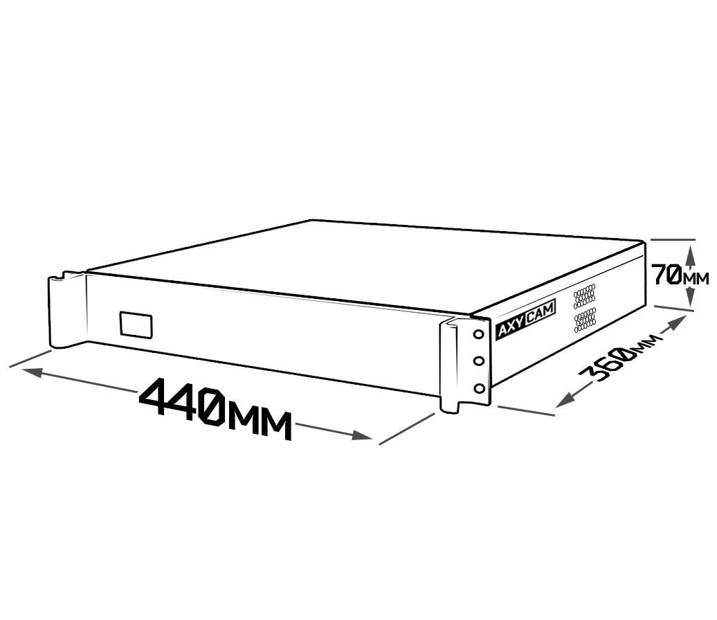 AX-N3636RH AxyCam 36 канальный IP видеорегистратор - 2